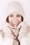 冬天美丽的女孩 库存图片