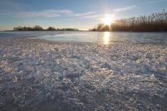 冬天自然风景 免版税库存图片