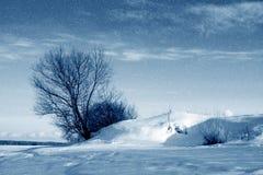 冬天自然,暴风雪 免版税库存图片