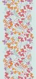 冬天莓果垂直的无缝的样式 库存图片