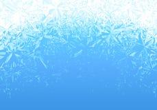 冬天蓝色冰霜背景 皇族释放例证