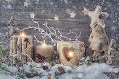 冬天蜡烛 免版税库存图片