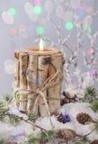 冬天蜡烛 库存照片