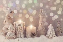 冬天蜡烛 库存图片