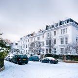 冬天街道,伦敦-英国 库存图片