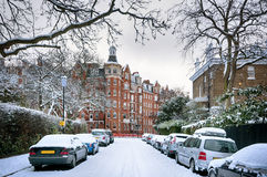 冬天街道,伦敦-英国 免版税库存照片