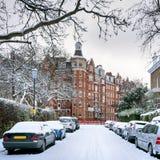 冬天街道,伦敦-英国 免版税库存图片