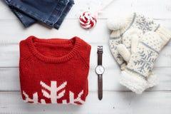 冬天衣物样式 库存图片