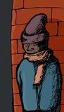 冬天衣物的人 向量例证