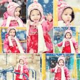 冬天衣裳使用的女孩 库存照片