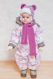 冬天衣裳的婴孩 库存图片