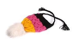 冬天被编织的盖帽 库存照片