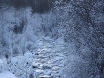 冬天西伯利亚贝加尔湖冰的河Slyudyanka 库存照片