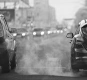 冬天路路线迷离卡车 免版税库存图片