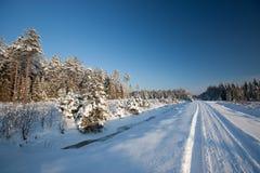冬天路 免版税库存图片