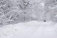 冬天路 免版税图库摄影