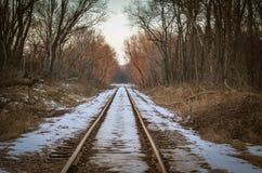 冬天轨道 库存照片