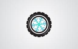 冬天轮胎摘要例证雪花 图库摄影