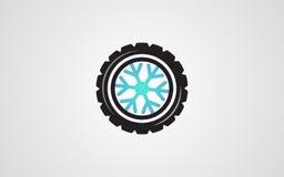 冬天轮胎摘要例证雪花 库存照片