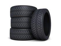 冬天轮胎汽车 图库摄影