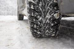 冬天轮胎 库存照片