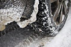冬天轮胎 库存图片