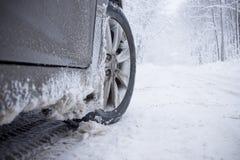冬天轮胎 图库摄影