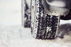 冬天轮胎 免版税库存照片