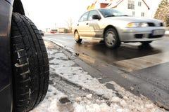 冬天轮胎 免版税库存图片