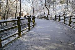 冬天道路 库存图片
