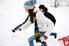 冬天重新创建 图库摄影