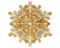 冬天银上色了在白色背景的雪花 库存照片