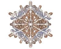 冬天银上色了在白色背景的雪花 免版税库存照片