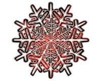 冬天银上色了在白色背景的雪花 图库摄影