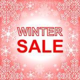 冬天销售。 库存图片