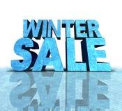 冬天销售标志 免版税库存照片