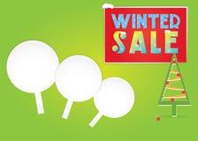 冬天销售,与杉树的风景例证 向量例证