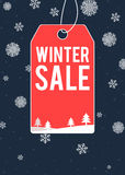 冬天销售主题的海报设计 库存例证