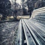 冬天长凳 库存图片