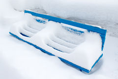 冬天长凳 免版税图库摄影