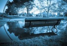 冬天长凳 库存照片