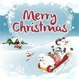 冬天问候正方形版本圣诞卡 免版税库存照片