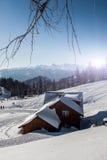 冬天阿尔卑斯 免版税库存照片