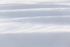 冬天随风飘飞的雪背景 库存图片