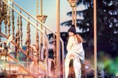 冬天雪乐趣欢乐的心情孩子 图库摄影
