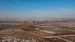 冬天雪原 33c 1月横向俄国温度ural冬天 库存照片