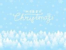 冬天雪圣诞节风景 库存例证