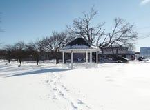 冬天雪场面 库存照片