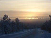 冬天雾 库存照片