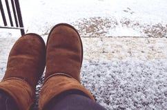 冬天鞋子 免版税库存照片
